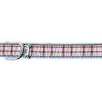 View Image 1 of Ribbon London Plaid Blue Dog Collar