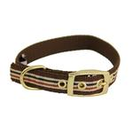 View Image 1 of Ribbon London Plaid Brown Dog Collar
