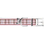 View Image 1 of Ribbon London Plaid Pink Dog Collar