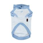 View Image 2 of Riley Dachshund Hooded Dog Shirt by Puppia - Light Blue