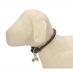 View Image 1 of Rolled Black Leather Dog Collar