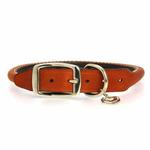 View Image 2 of Rolled Tan Leather Dog Collar