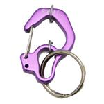 Rubit Dog Tag Clip - Purple Curve
