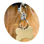 View Image 2 of Rubit Dog Tag Clip - Purple Curve