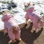 View Image 4 of Ruffin It Snowsuit - Pink