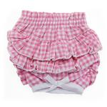 View Image 1 of Ruffled Pink Gingham Dog Panties by Doggie Design