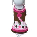 View Image 1 of Ruffles and Polka Dot Dog Harness Dress w/Leash
