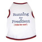 View Image 1 of Running For President Dog Tank Top - White