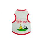 View Image 1 of Santa 'I've Been Mostly Good' Dog Tank Top