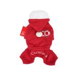 View Image 1 of Santa's Dog Jumpsuit by Puppia