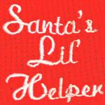 View Image 3 of Santa's Lil Helper Dog Pajamas