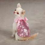 View Image 1 of Sassy Sequin Dog Tank Top - Pink
