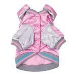 View Image 2 of Satin Bomber Dog Jacket - Pink