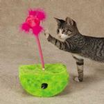 View Image 1 of Savvy Tabby Rockin' Jabbers Cat Toy - Parrot Green