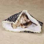 View Image 1 of Savvy Tabby Wild Time Hide-N-Tweet Crinkle Cat Toy - Black