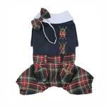 View Image 1 of Scottie Plaid Jumpsuit by Puppia - Navy