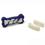 View Image 2 of Seamsters Rubber/Rawhide Weave Bone Toy