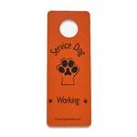 View Image 1 of Service Dog Working Door Hanger - Orange