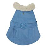 View Image 1 of Sherpa Corduroy Dog Coat - Blue
