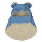 View Image 3 of Sherpa Corduroy Dog Coat - Blue
