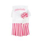 View Image 1 of Signature Pinkaholic Stripe Dress - White & Pink