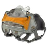 View Image 4 of Singletrak Hydration Dog Pack by RuffWear - Orange Sunset