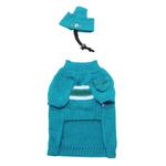 View Image 2 of Ski Dog Sweater by Dogo - Blue & Green