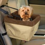 View Image 1 of Skybox Pet Booster Seat by Kurgo - Khaki