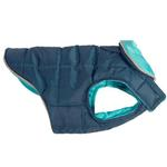 View Image 1 of Skyline Puffy Reversible Dog Vest  - Legion Blue/Teal