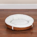 View Image 2 of Slumber Pet Classic Sherpa Donut Bed - Chestnut