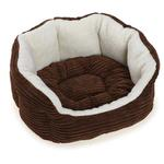 View Image 1 of Slumber Pet Cozy Cord Pet Bed - Chocolate