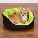 View Image 1 of Slumber Pet Dimple Plush Nesting Bed - Green