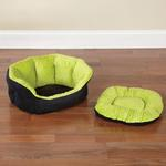 View Image 3 of Slumber Pet Dimple Plush Nesting Bed - Green