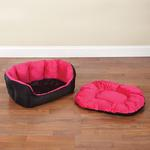 View Image 2 of Slumber Pet Dimple Plush Nesting Bed - Pink
