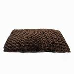 View Image 4 of Slumber Pet Swirl Plush Cushion - Chocolate