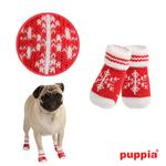 View Image 1 of Snowflake Dog Socks by Puppia - Red