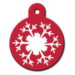 View Image 1 of Snowflake Engraveable Pet I.D. Tag