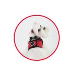 View Image 2 of Soft Harness Vest by Puppia - Red