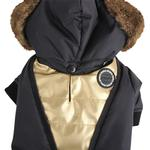 View Image 3 of Soothing Dog Coat by Puppia - Black