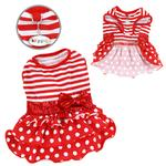 Sparkling Bow Ruffle Layered Dog Dress by Klippo - Red