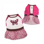 View Image 1 of Sparkling and Colorful Butterfly Dog Dress by Klippo
