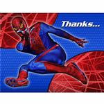 Spider-Man Party Supplies - Postcard Thank You Notes