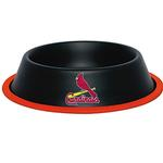 St. Louis Cardinals Dog Bowl - Black