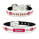 View Image 1 of St. Louis Cardinals Leather Dog Collar