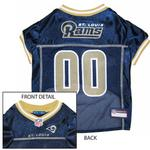 View Image 1 of St. Louis Rams Officially Licensed Dog Jersey - Gold Colored Trim