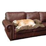 View Image 2 of Sta-Put Pet Bolstered Furniture Protector by Solvit - Moss