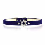 Star of David Charm Dog Collar