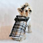 View Image 1 of Step In Wrap Dog Coat - Brown Plaid