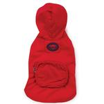View Image 3 of Stowaway Rain Jacket by Zack & Zoey - Tomato Red