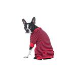 View Image 1 of Striped Dog Pajamas - Red